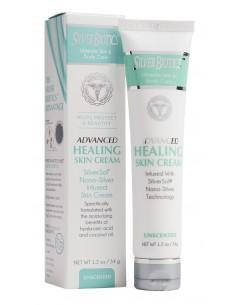 Silver Biotics Advanced Healing Skin Cream Unscented 1.2oz Silver
