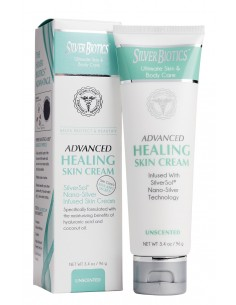 Silver Biotics Advanced Healing Skin Cream Unscented 3.4oz Silver