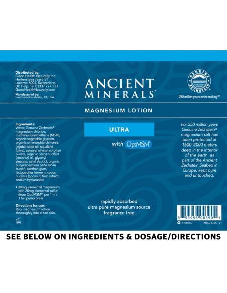 Ancient Minerals - Professional Strength - Magnesium Lotion Ultra – 5oz/150ml Magnesium