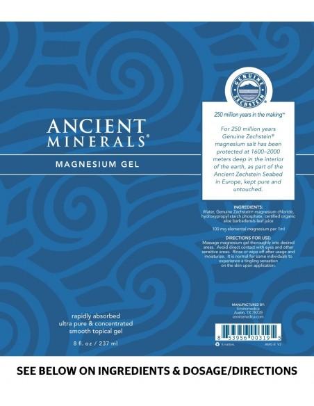 Ancient Minerals - Professional Strength - Magnesium Gel Plus 8oz. Magnesium