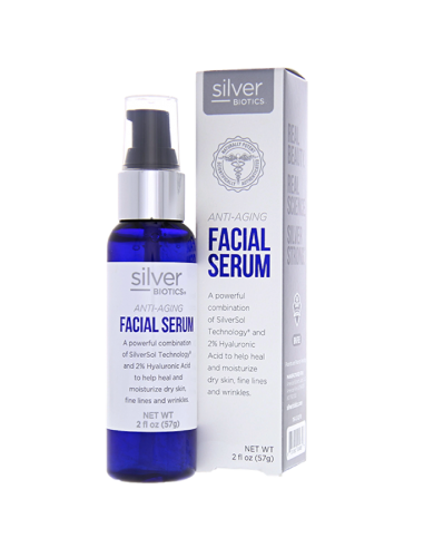SilverBiotics® Anti-aging Facial Serum 2oz Home