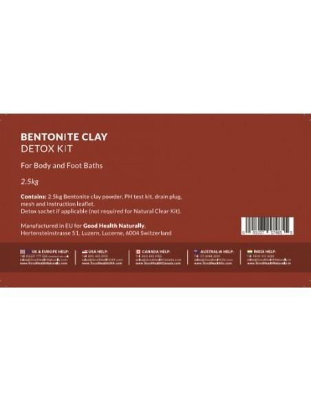 Bentonite Clay Bath Natural Detox Kit – 2.5kg Home