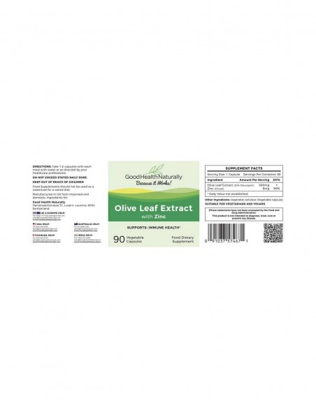Olive Leaf with Zinc Home