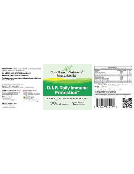 D.I.P. Daily Immune Protection™ 90 Caps Immunity
