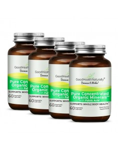 Pure Concentrated Organic Minerals™ Capsules - Buy 3 Get 1 FREE Home