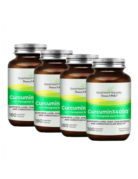 CurcuminX4000™ with Fenugreek Capsules - Buy 3 Get 1 FREE Home