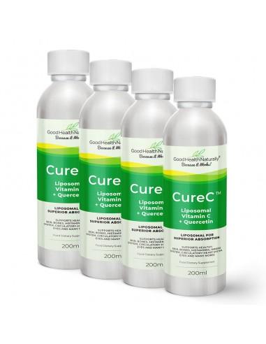CureC™ - Liposomal Vitamin C with Quercetin - Buy 3 Get 1 FREE Home