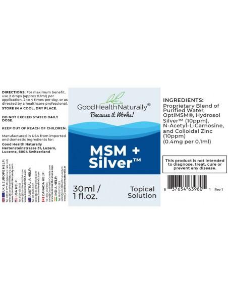 MSM+Silver™ Drops Silver