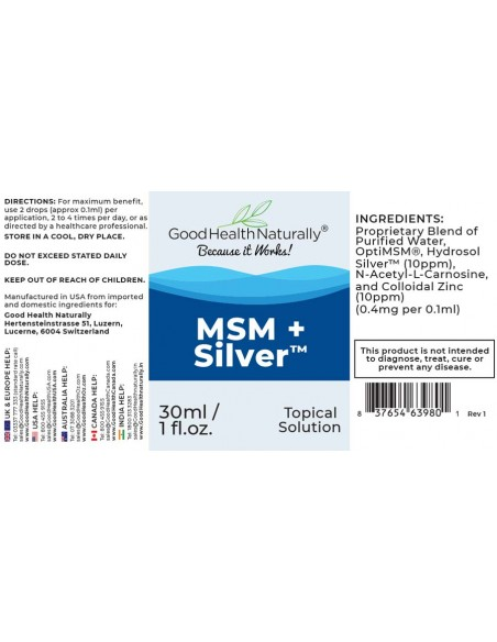 MSM+Silver™ Drops - Buy 3 Get 1 FREE Home