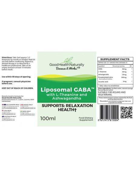 Liposomal GABA with L-Theanine and Ashwagandha - 100ml Home