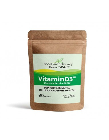 Vitamin D3 4000IU - 90 Tablets (Pouch) Home