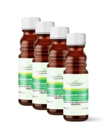Liposomal GABA with L-Theanine and Ashwagandha - 100ml - Buy 3 Get 1 FREE Home