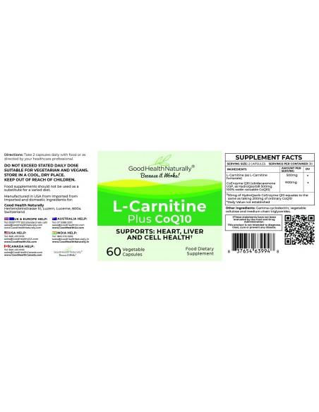 L-Carnitine Plus CoQ10 - Buy 3 Get 1 FREE Home