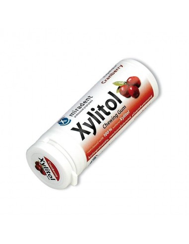 Xylitol Chewing Gum Cranberry - 1 Tube Home