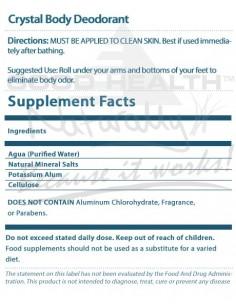 Crystal Body Deodorant Roll-On 66ml A-Z Product List