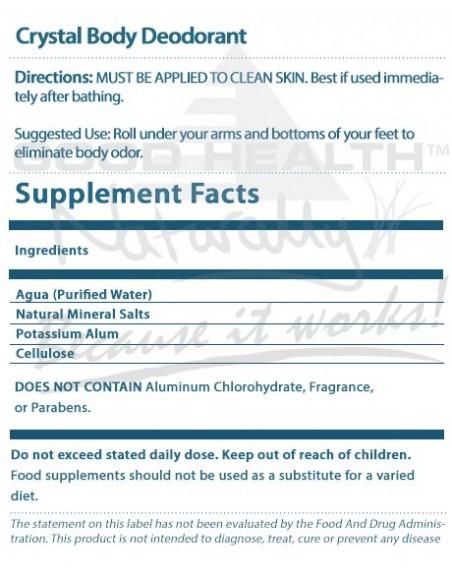Crystal Body Deodorant Roll-On 50ml Skin Care